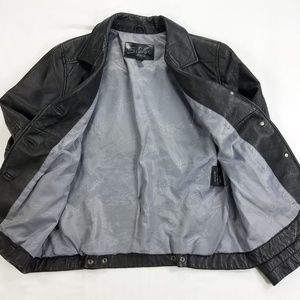 Silver Jeans Jackets & Coats - Silver Jeans Black Soft Leather Jacket